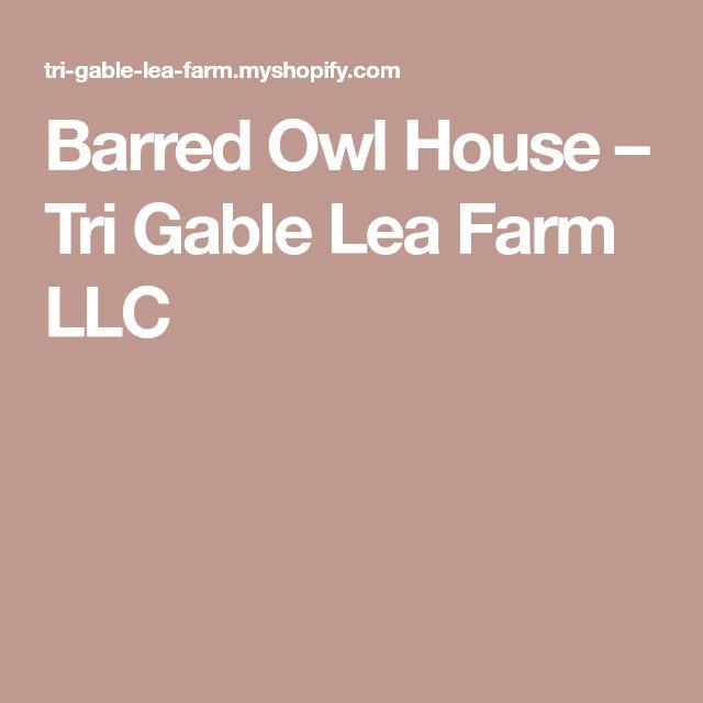 how to build a screech owl house