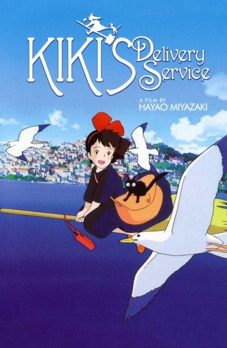 KIKI'S DELIVERY SERVICE!   I remember watching this movie in Japanese class years ago :) loved it