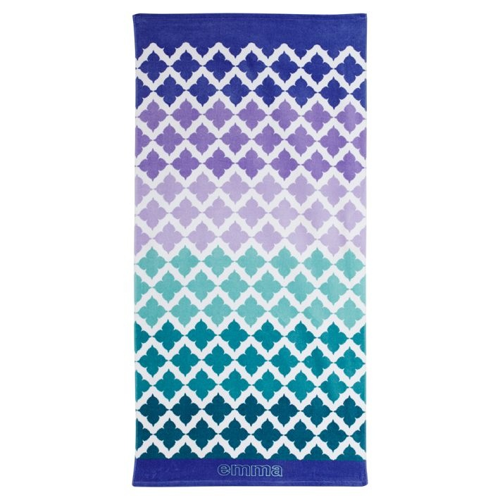 Beach Mosaic Cool Beach Towel PB TEEN WATERCOLOR/TIE DYE/ OMBRE