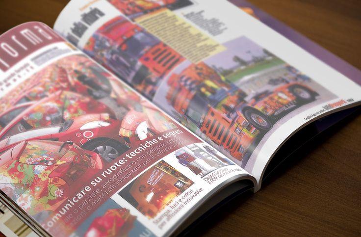 """L'automobile. Uno dei simboli più addobbati della nostra storia italiana. Grazie all'aerografia digitale abbiamo decorato berline, utilitarie, furgoni e camion. """"Large Format"""", una delle riviste più influenti sulla comunicazione visiva, ha raccontato ad un buon numero di lettori come vengono decorate le nostre quattroruote."""