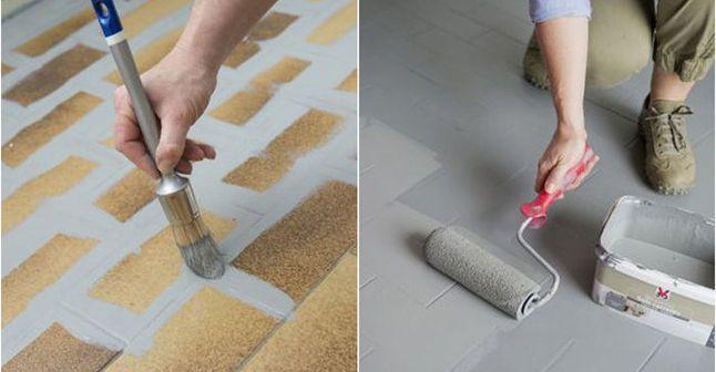 Repeindre le carrelage au sol d'une cuisine : tuto en images