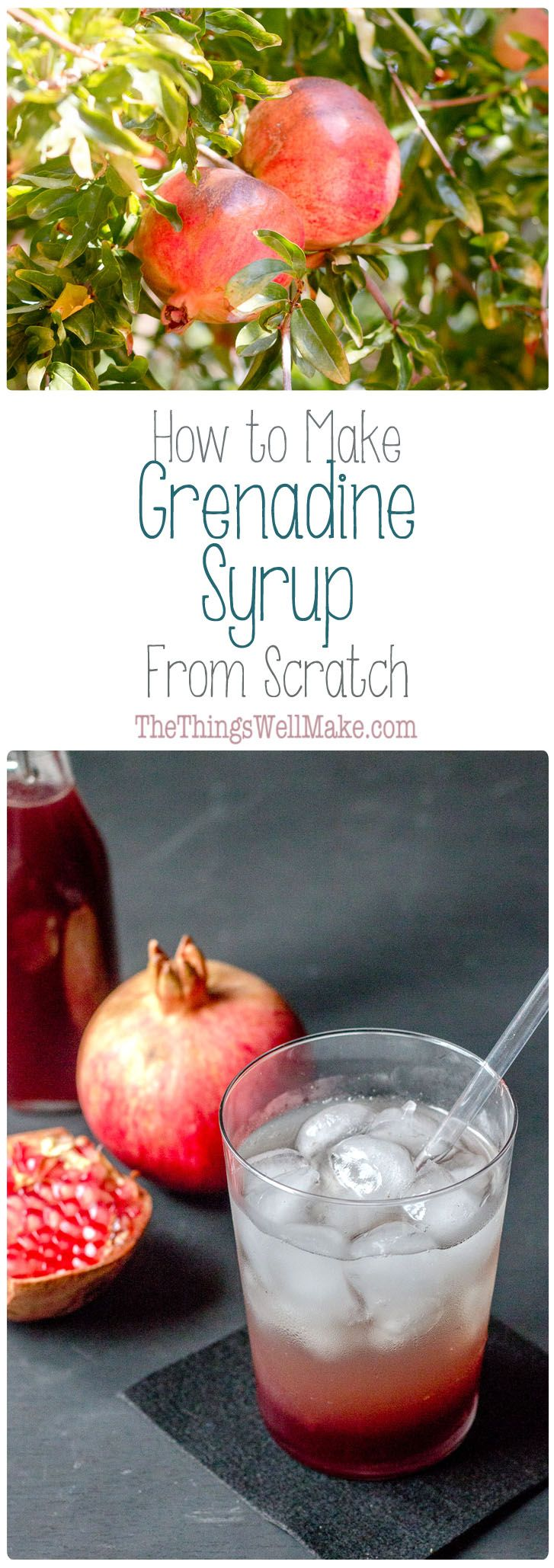 grenadine syrup from scratch using fresh pomegranates or pomegranate ...