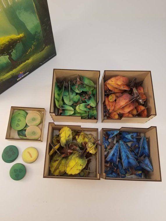 Photosynthesis board game insert/organizer/storage solution