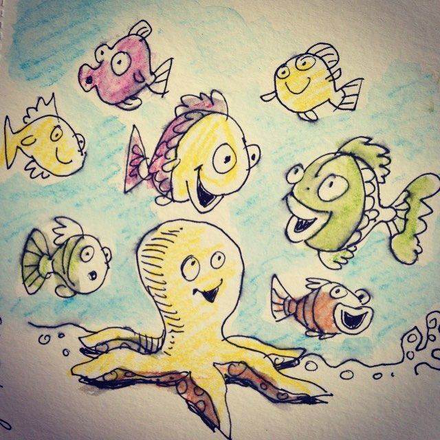 Under the Sea. July/30/15 #sketchbook #dailydrawing