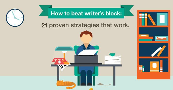 A new survey found that writer's block was caused by high expectations, fear of failure, and unrealistic deadlines. Here are 21 ways to beat writer's block.