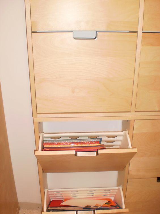 IKEA rocks : une idée pour un rangement peu profond. | Scraproom, Idee rangement, Idée déco bureau