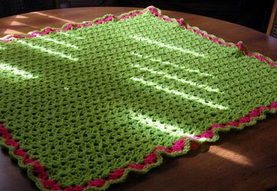 X Stitch Crochet Baby Blanket Pattern : Double V-Stitch Baby Blanket?Crochet Pattern ~ Skill Level ...