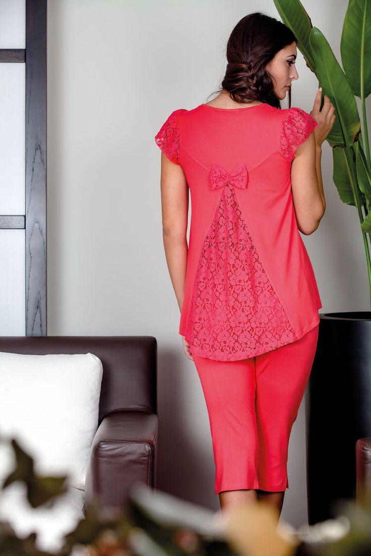 Claire Katrania Homewear με κάπρι Ροδί C-8892 (+μεγάλα μεγέθη) – Tartora.gr