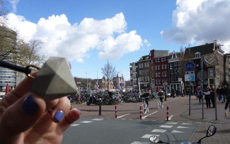 LaboratorioFrame in Amsterdam #concrete #AmsterdamShape #gold