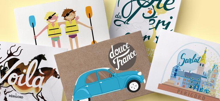 Les cartes postales Les Mimines Périgourdine sont disponibles !  Les Mimines Périgourdines, produits locaux et éco-responsables.