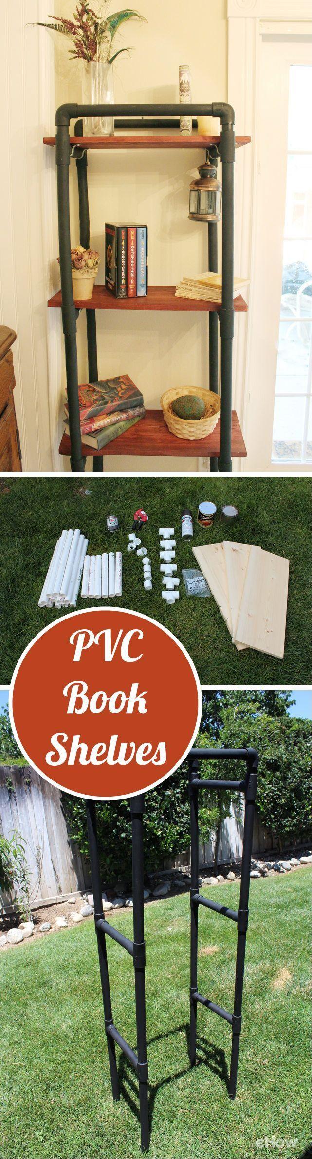 How to Make PVC Book Shelves 122