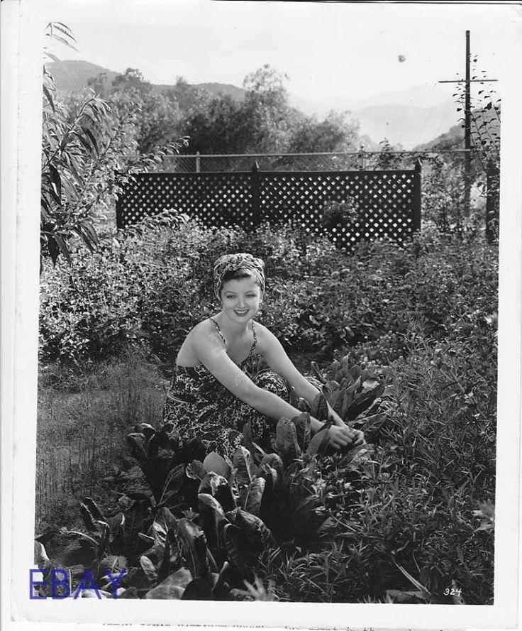 Myrna in her garden