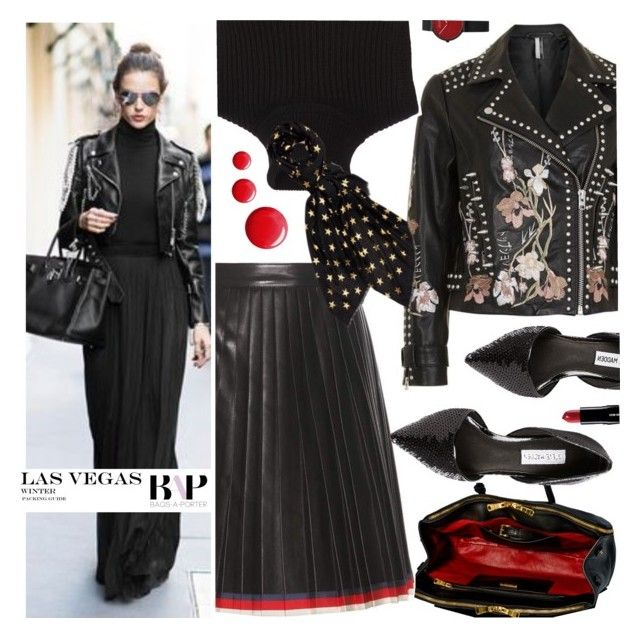 """""""#BAPmix Meet me in Vegas"""" by bagsaporter ❤ liked on Polyvore featuring Miu Miu, Topshop, Gucci, Steve Madden, Michael Kors and Prada"""