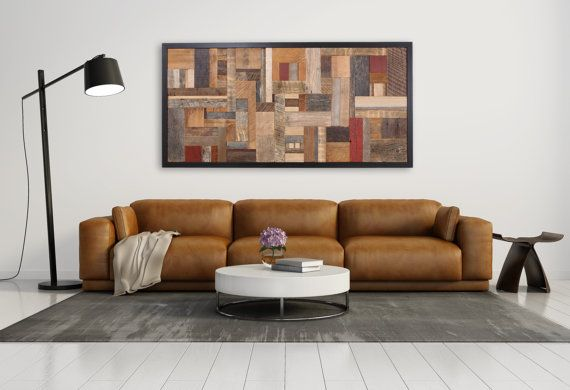 Wood wall art made of old reclaimed barnwood by CarpenterCraig