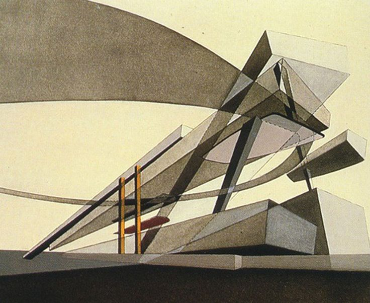 intersecting planes architecture. hong kong peak drawing zaha - layered point line and plane into an individual assembly / intersecting planes architecture l