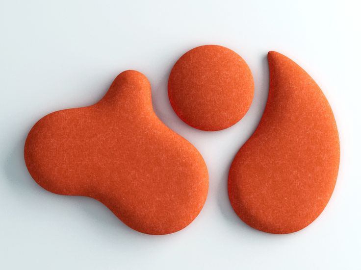Orange acoustic Woolbubbles by Wobedo. #AcousticsWIthDesign #Noise #AcousticPanels #Quieter