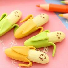 4 sacos/lote ( 8 pcs ) de Mini em forma de Banana borrachas de borracha para crianças presente da novidade papelaria atacado(China (Mainland))