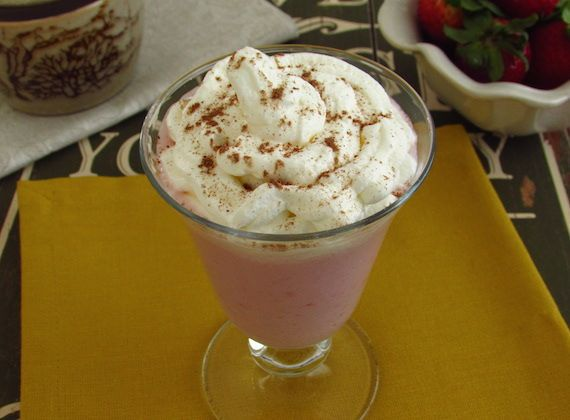 Strawberry and chocolate milk shake   Food From Portugal. A delicious milk shake, great for hot summer days, confectioned with strawberries, chocolate, yoghurt, milk and sugar, garnished with whipped cream. http://www.foodfromportugal.com/recipe/strawberry-chocolate-milk-shake/
