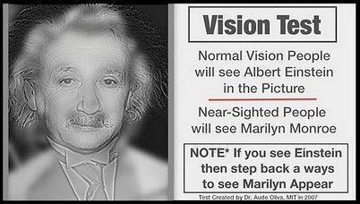 vision test: Visiontest, Optical Illusions, Marilyn Monroe, Glasses, Vision Test, Funny, Albert Einstein, Weird, Eye