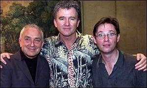"Paul Freeman, Patrick Duffy and Richard Thomas in ""Art"" by Yasmina Reza, Wyndham's Theatre, London, April 2000"