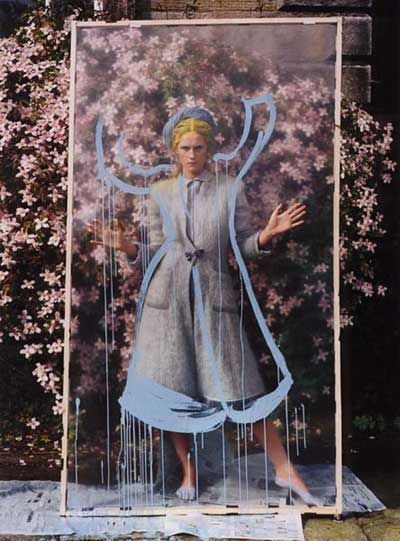 Tim Walker rose magic | perspex | glass | drawing | colours | nature | bold | story through different drawings | sequencing