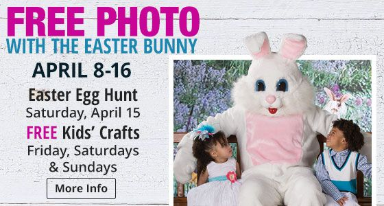 Visit the Easter Bunny at Bass Pro Shops in Altoona