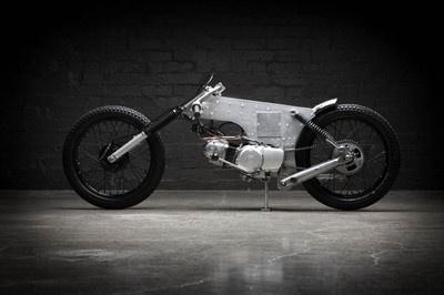 110 postie bike modified