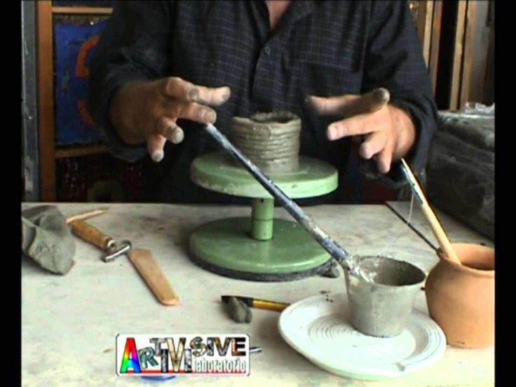 Laboatorio ARTI VISIVE Lezione1 Come realizzare un vaso  di creta a colo...