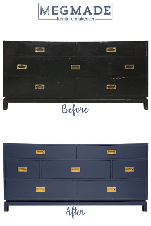 Love This Beautiful Campaign Dresser We Painted In Polo Blue The