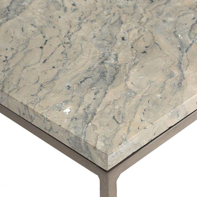 Table Basse Metal Et Marbre Gris Mahaut Table Basse Metal Table Basse Marbre Gris