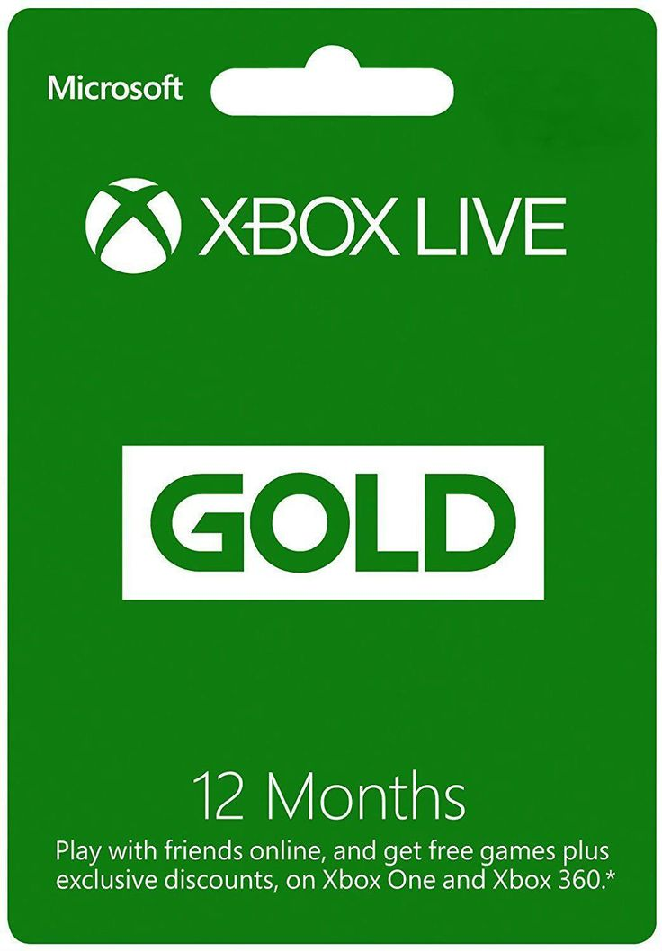 Microsoft Xbox LIVE 12 Month Gold Membership Card for Xbox 360 and Xbox One Brand New Xbox LIVE 12 month cards that are unredeemed. Can be used with X... #xbox #membership #card #gold #month #live #microsoft