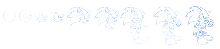 How to draw Sonic the Hedgehog by Sancosity
