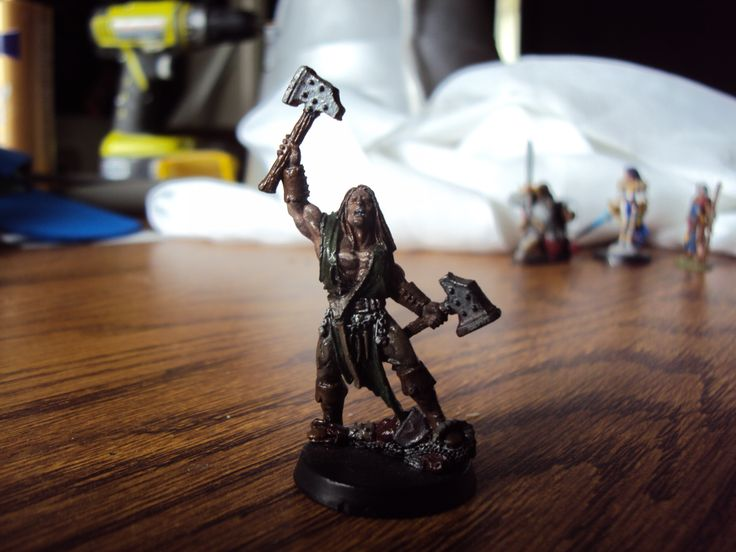Human barbarian figure that I painted.  He has the power.