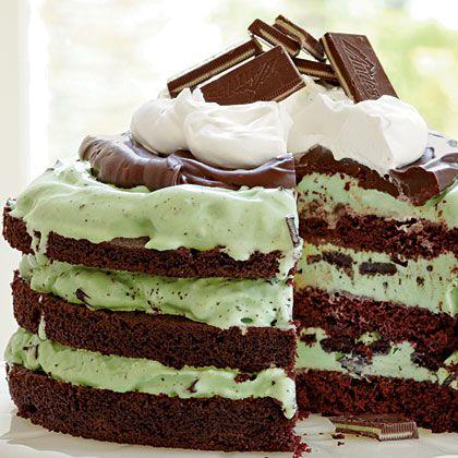 Quick & Easy Recipes – Mint Chocolate Chip Ice Cream Cake