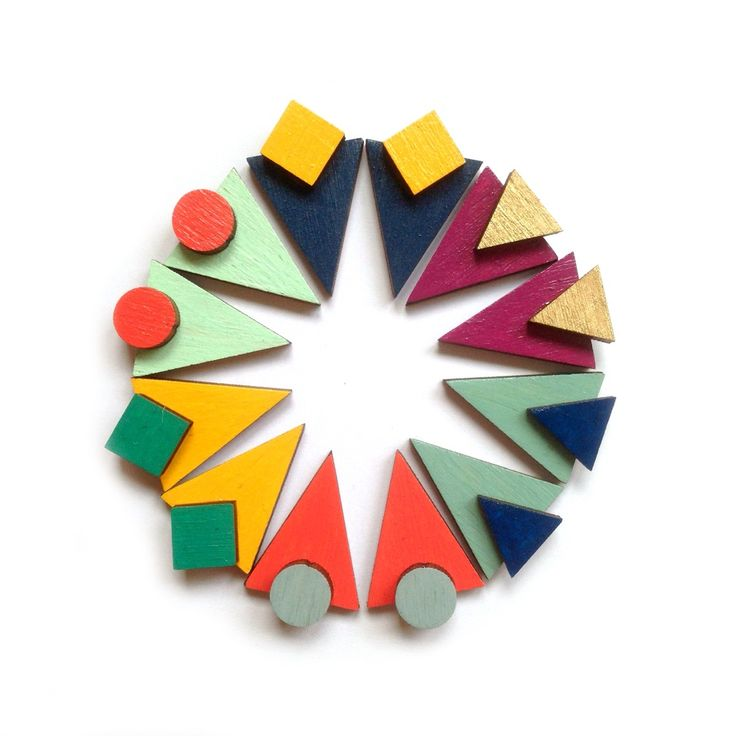 Large geometric stud earrings #geometric #geometricearrings #woodenearrings #earrings #wooden #triangle #contemporary #minimal #arty #design #redpaperhouse #graphic #jewellery #etsy #notonthehighstreet