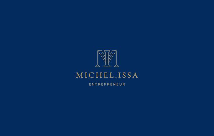 Blue and golden logotype for swedish entrepreneur  — Blå och guld logotyp för den svenska entreprenören Michel Issa