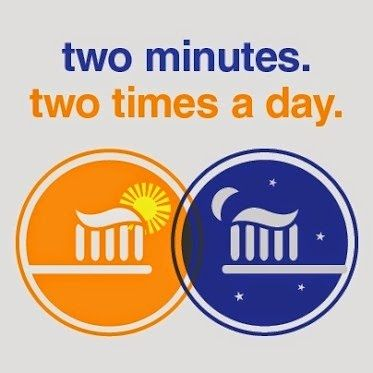Two minutes. Two times a day. Stick by these two simple rules for a healthier smile! #Dentist #Dentaltown #PatientEducationIdeas