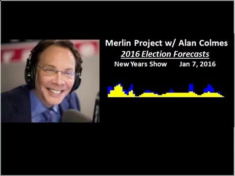 """2016 Election Forecast -- TimeTraks on Alan Colmes Show 1/7/16 Merlin Project. --This may seem like flakey pseudoscience """"psychic"""" BS like bio- rhythms etc.. But it's a projection from 2 physicists and they say Sanders will be the next president. Interesting 9 minute clip. #FeelTheBern"""