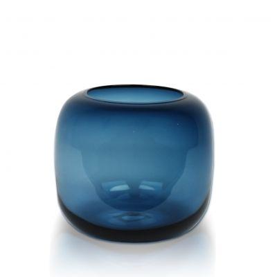 Подсвечник NIGHT BLUE темно-синий выс.15см, диам.16см 15-3572 - интернет магазин Sophie Decor (Киев)