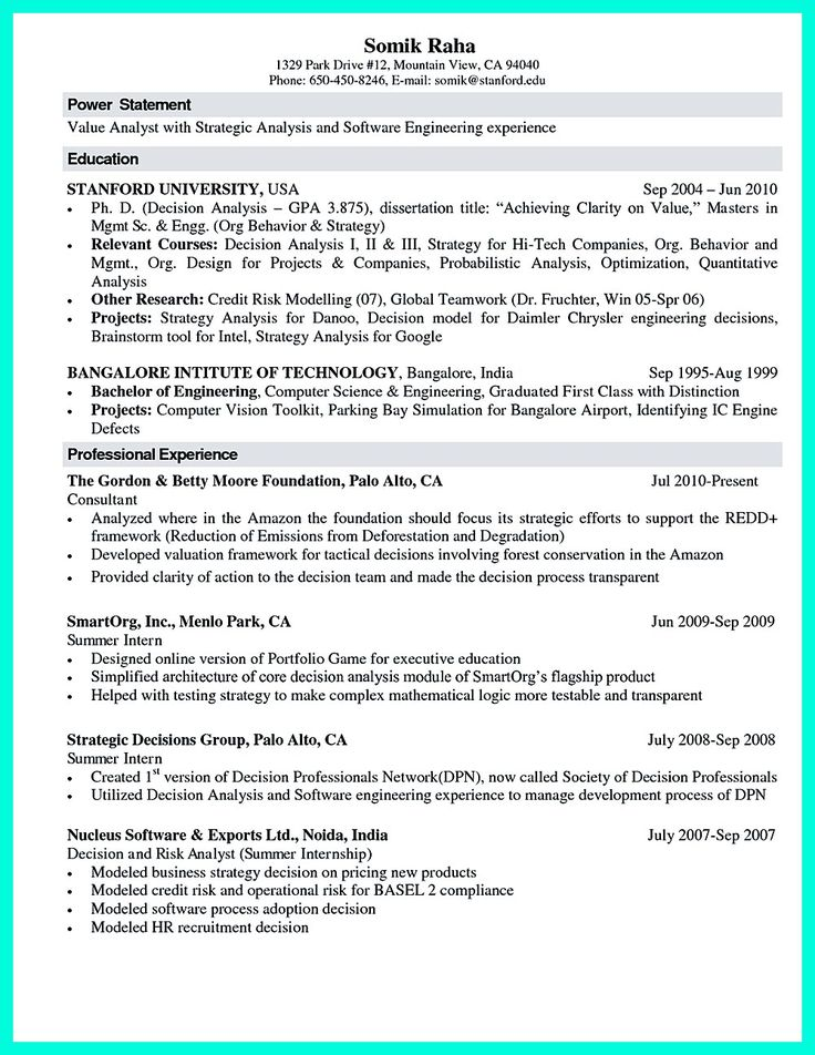 2695 best Resume Sample Template And Format images on Pinterest - Information Technology Specialist Resume