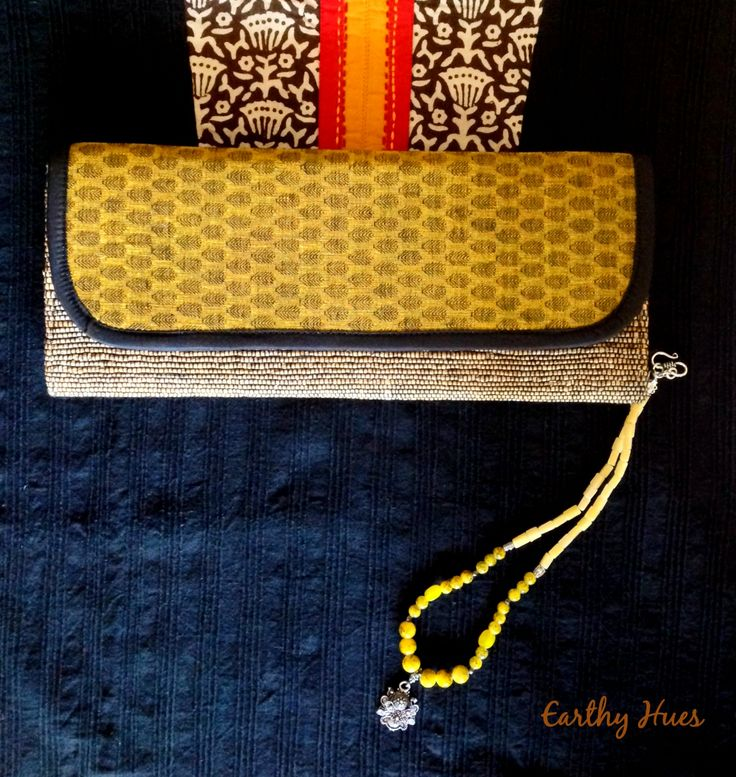 Banana fibre clutch with cotton