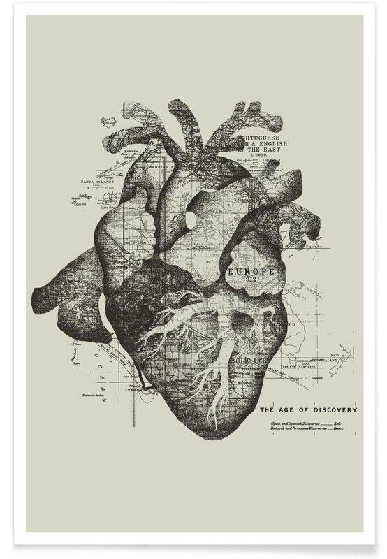 Restless heart als Premium Poster von Tobe Fonseca | JUNIQE
