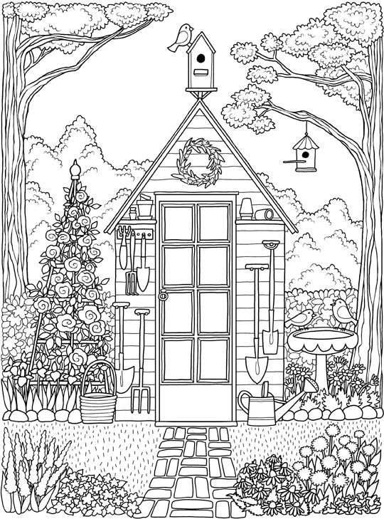 architecture coloring book pages | Architecture Coloring Pages for Adults: a collection of ...