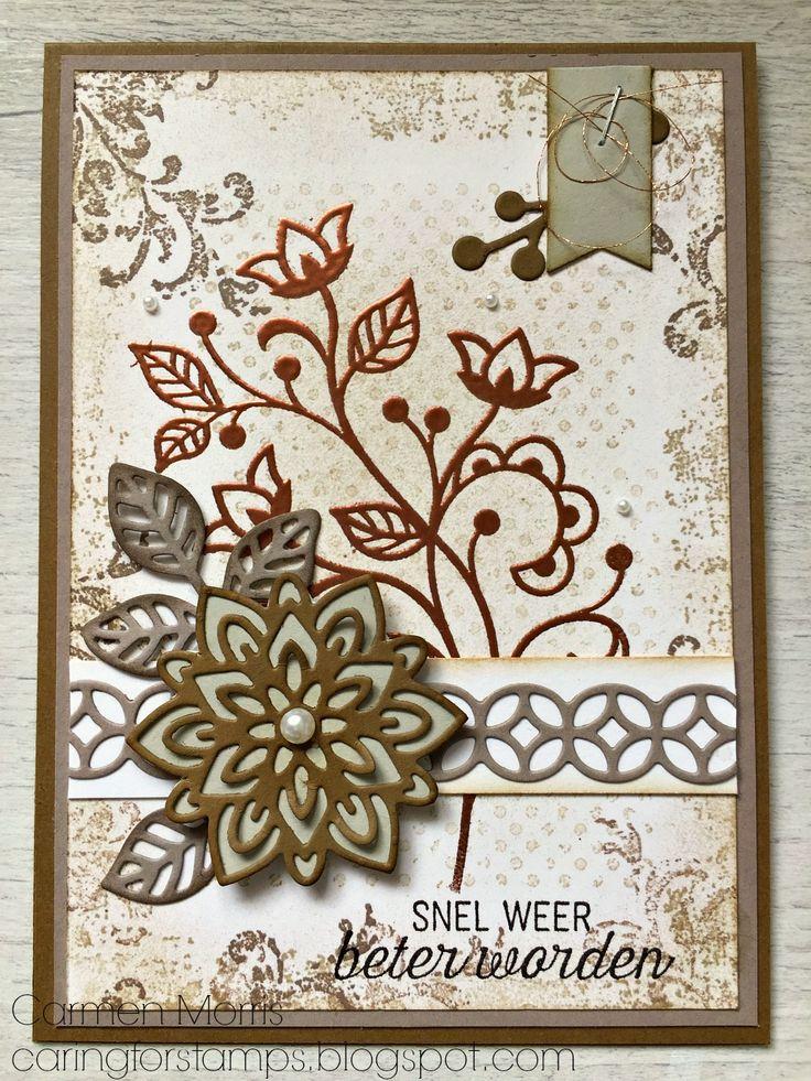 Caring for Stamps: Vintage Vrijdag #65: Stampin' Up! ~ Recht uit het Hart   Flourishing Phrases