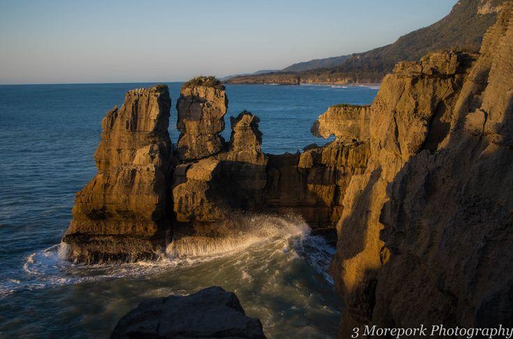 Limestone cliffs, Dolomite Point, South Island