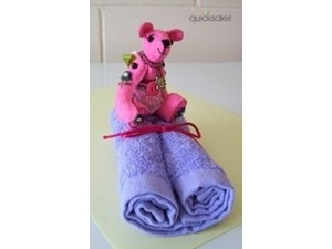 SOLD. OOAK Mini Embroidered Bear and Face Washer Gift Set .  Postage within Australia only.