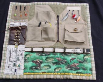 The Outdoors Man Busy Hands Fidget Quilt Fun Activities Quilt Hooks And The O Jays