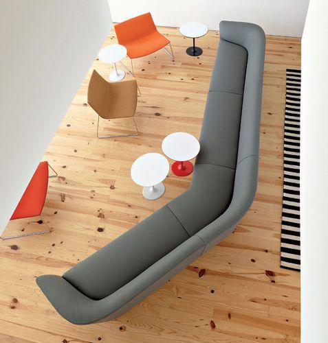 Sofá modular / moderno / de tela / de cuero LOOP  Arper