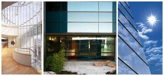 Glass is capable of taking on the mantle of an energy efficient product - read about it here: http://www.switchableprivacyglass.com.au/2014/01/optimum-energy-efficiency-in-glass-doors-and-windows/