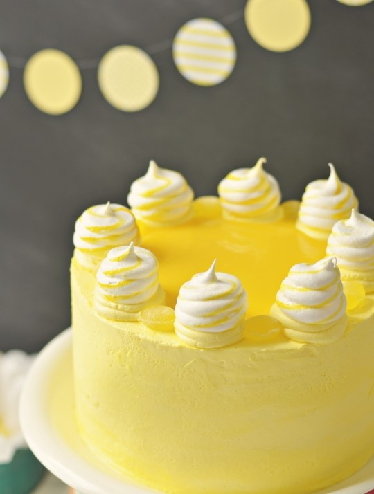 Lemon Meringue Delight Cake via Sweetapolita